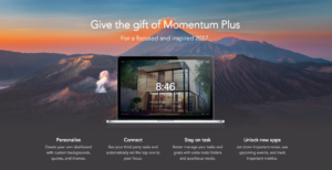 Momentum Gift Page